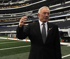 Cowboys owner Jerry Jones will play host to Super Bowl XLV in his two-year-old stadium on Feb. 6.