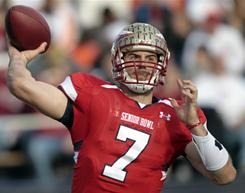 Florida State quarterback Christian Ponder led the South to victory at the Senior Bowl in Mobile, Ala.