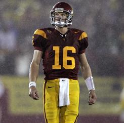 Mitch Mustain had immediate success at Arkansas, but started just one game at Southern California in his three seasons with the Trojans.