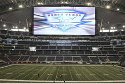 Cowboys Stadium in Arlington, Texas, is hosting Super Bowl XLV on Sunday.