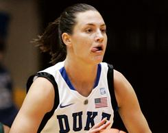 Duke freshman Haley Peters tallied 15 points for the Blue Devils, who rolled over Miami following their loss to Connecticut.