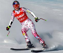 Lindsey Vonn suffered a concussion during a giant slalom practice in Austria Thursday.