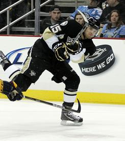 Dustin Jeffrey scored to help the Penguins win their fifth straight game.