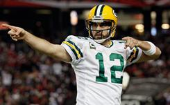 Jersey No. 12 could prove to be a good omen for quarterback Aaron Rodgers and the Packers.