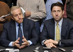 Mets owner Fred Wilpon, left, and Chief Operating Officer Jeff Wilpon are alleged to have turned a blind eye to Bernard Madoff's fraud.
