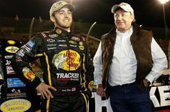 Austin Dillon, left, racing for a team owned by his grandfather Richard Childress, right, and his father Mike Dillon, won twice in 2010 in the truck series to earn rookie of the year honors.
