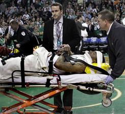 Marquis Daniels suffered a bruised spinal cord Sunday against the Magic.
