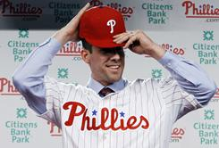 Cliff Lee, back with the Phillies after pitching for the Mariners and Rangers last year, gives the club a rotation that could stack up with some of the best in baseball history.
