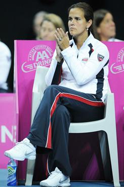 Mary Joe Fernandez captained the U.S. Fed Cup team to the final in each of her first two years. This year will be different, after a first-round loss during the weekend in Belgium.