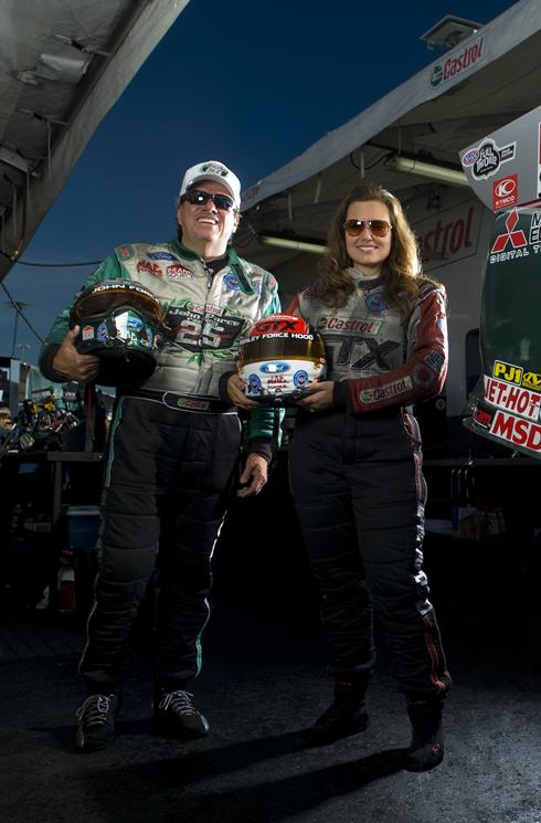 John Force, left, and his daughter, Ashley Force Hood, have big plans for John Force Entertainment.