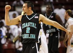 Coastal Carolina's Anthony Raffa is one of five players to have appeared in every game this season as the Chanticleers ride a 20-game winning streak.