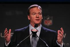 NFL commissioner Roger Goodell oversees a league staring into a potential labor crisis.