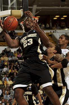 Wake Forest coach Jeff Bzdelik said freshman Melvin Tabb (23) is no longer with the program for conduct detrimental to the team.