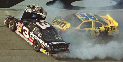 Though the crash didn't look that severe, Dale Earnhardt's autopsy revealed injuries that included blunt-force head trauma and eight broken ribs.