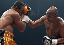 Bernard Hopkins, right, felt he was robbed during his light-heavyweight championship against Jean Pascal last December, and the WBC agreed with him, mandating a rematch that is expected to happen on May 21.