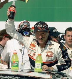 Dale Earnhardt, shown here in this 1999 file photo, celebrates in Victory Lane after winning his 10th consecutive 125-mile Daytona 500.