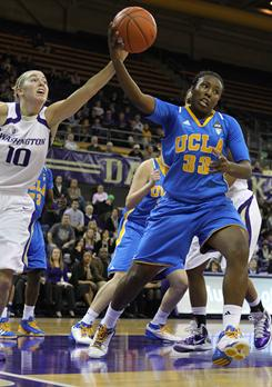 UCLA guard Jasmine Dixon (33) is a big reason the Bruins are in the top 10.