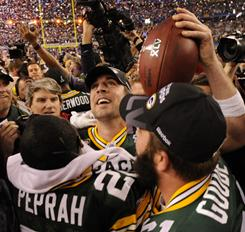 Aaron Rodgers led the Packers to their first title in 14 years with a win in Super Bowl XLV.