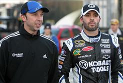 Jimmie Johnson, right, and crew chief Chad Knaus are vying for a sixth consecutive Sprint Cup Series championship.