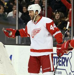 Todd Bertuzzi had two goals to help the Red Wings break out of a slump with a 6-1 win over the Bruins.