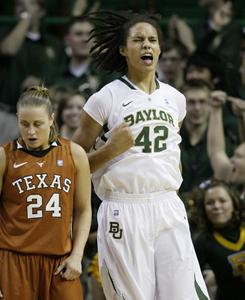 Baylor center Brittney Griner (42) scored 29 points in Baylor's 96-68 win over Texas.