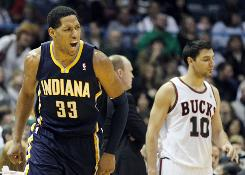 Indiana's Danny Granger scored 30 points Saturday night to lead the Pacers to a 103-97 victory over the Milwaukee Bucks. The win put Indiana at 7-1 since Frank Vogel took over as interim coach.
