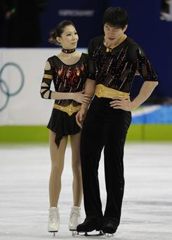 Pairs skaters Zhang Dan, left, and Zhang Hao won silver at the 2006 Turin Olympics.