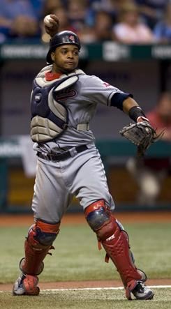 The Indians have high hopes for Carlos Santana, a switch-hitting catcher obtained from the Dodgers in July 2008. He's recovering from a torn ligament in his left knee.