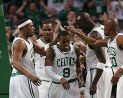 The Celtics are the seventh team to send four players (Paul Pierce, Rajon Rondo, Kevin Garnett and Ray Allen) to the All-Star Game. Boston coach Doc Rivers will lead the East squad.