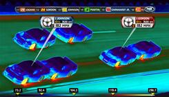 Fox will debut a new thermal camera on Sunday's Daytona 500 meant to show the heat of cars by making them appear to glow with colors indicating temperatures.