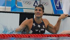 Dara Torres won a silver medal in the women's 50 meter freestyle at the Beijing Olympics.