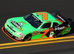 Danica Patrick qualified a career-best fourth for Saturday's Nationwide Series race at Daytona International Speedway.