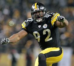 "Steelers linebacker James Harrison played with a back injury during this past season and thinks that an 18-game NFL schedule is ""absolutely ludicrous."""