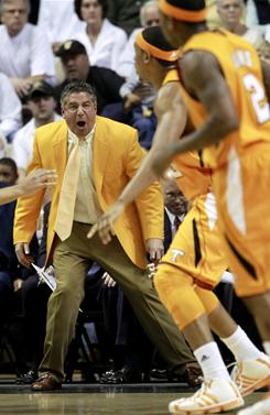 Tennessee coach Bruce Pearl and his team swept Vanderbilt this season with a 60-51 win on Tuesday. Tennessee outscored Vanderbilt 9-0 over the last two minutes of the game.