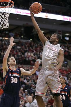 Ohio State's William Buford led the Buckeyes with 17 points in their 89-70 win over Illinois. Illinois fell to 17-11 to keep themselves squarely on the bubble.