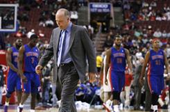 Detroit Pistons head coach John Kuester was ejected in the second quarter after receiving two technical fouls.