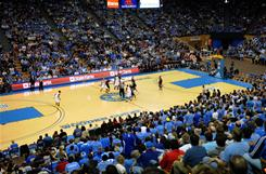 Arizona and UCLA players tip off in the last men's game played at Los Angeles' Pauley Pavilion before it closes for renovation.