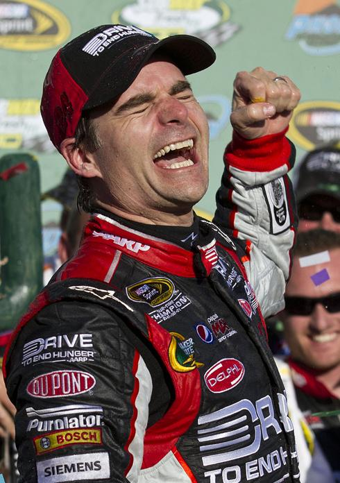 jeff gordon phoenix burnout. Jeff Gordon celebrates his win
