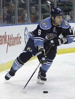 The Capitals gave up ECHL prospect Jake Hauswirth and a third-round pick to acquire Dennis Wideman.