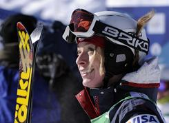 Olympic gold medalist Hannah Kearney won a World Cup dual moguls race in Marianske Lazne, Czech Republic, last weekend and has the lead in both the overall and moguls World Cup standings.