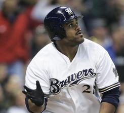 Prince Fielder has hit 192 home runs in six seasons with the Brewers.
