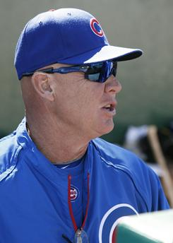 Mike Quade is in his first full season as the manager of the Cubs. 