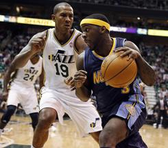 Ty Lawson led the new-look Nuggets with 23 points as Denver defeated the Utah Jazz on the road, remaining hot since dealing Carmelo Anthony.