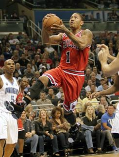 Derrick Rose (1) 24 points, four rebounds and four assists as the Bulls notched their eighth win in the last 10 games.