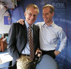 Longtime baseball color man Tim McCarver, left, received a two-year extension with Fox.