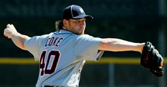 Phil Coke, pitching in a Feb. 26 spring training game, has a 3.75 ERA in 158 big-league games, all but one in relief.