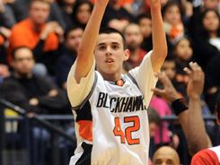 Fennville High's Pete Alfaro scored 13 points in Wednesday night's win over Bangor at DeVos Fieldhouse.