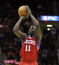 Point guard Jrue Holiday averages 13.8 points and 6.2 assists for the the Philadelphia 76ers.