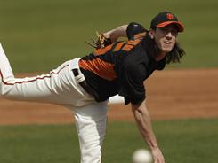 Giants ace Tim Lincecum is a two-time NL Cy Young award winner. 