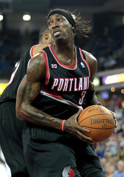 Gerald Wallace, who was traded from the Bobcats to the Trail Blazers finds himself back in Charlotte where he'll take on his former team on Friday.
